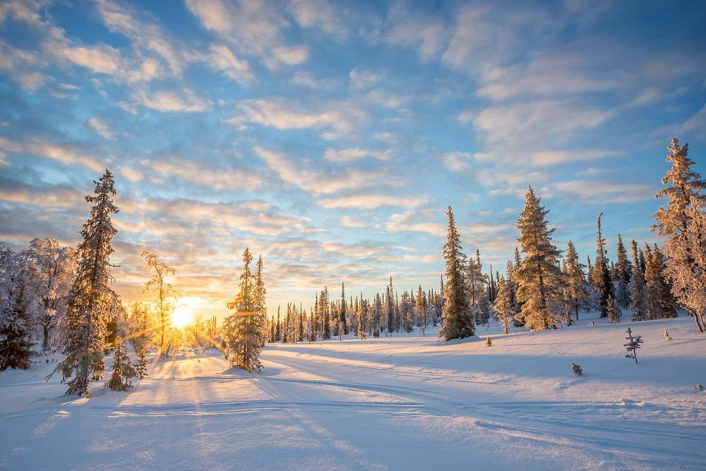 Paysages Finlande hivers