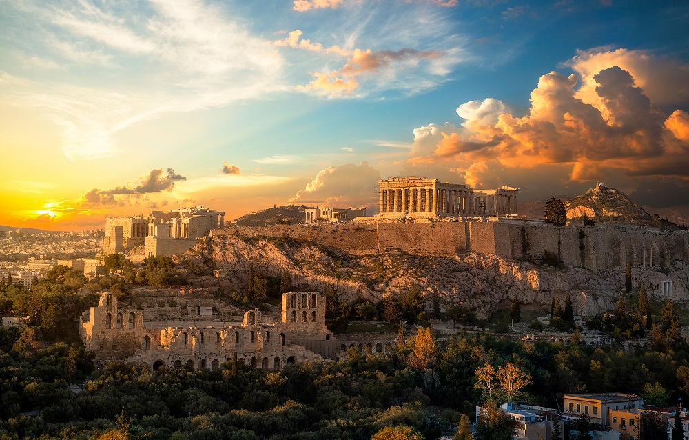 Grèce capitale Athènes Acropole