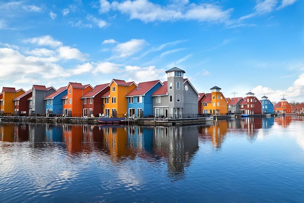 Pays-Bas Hollande maisons sur l'eau